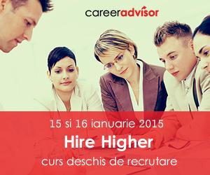 Hire Higher curs deschis de recrutare